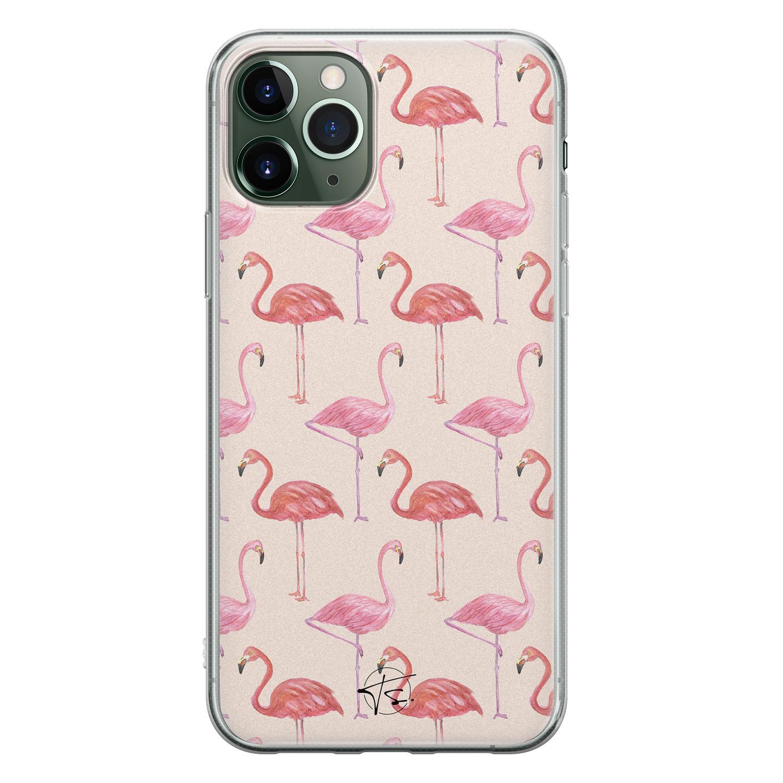 Telefoonhoesje Store iPhone 11 Pro Max siliconen hoesje - Flamingo