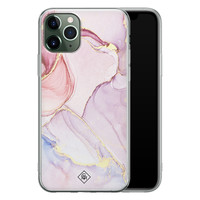 Casimoda iPhone 11 Pro Max siliconen hoesje - Marmer paars