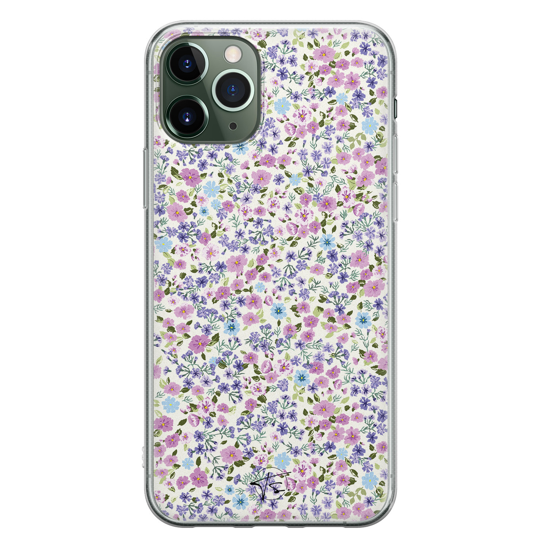 Telefoonhoesje Store iPhone 11 Pro Max siliconen hoesje - Purple Garden