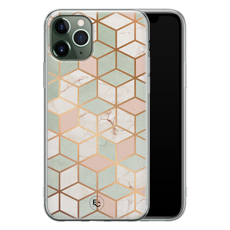 ELLECHIQ iPhone 11 Pro Max siliconen hoesje - Pastel Kubus