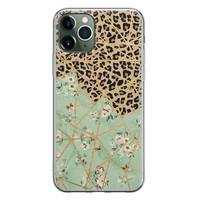Leuke Telefoonhoesjes iPhone 11 Pro Max siliconen hoesje - Leo Flower