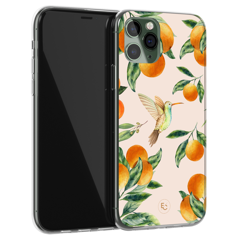 ELLECHIQ iPhone 11 Pro Max siliconen hoesje - Tropical Lemonade