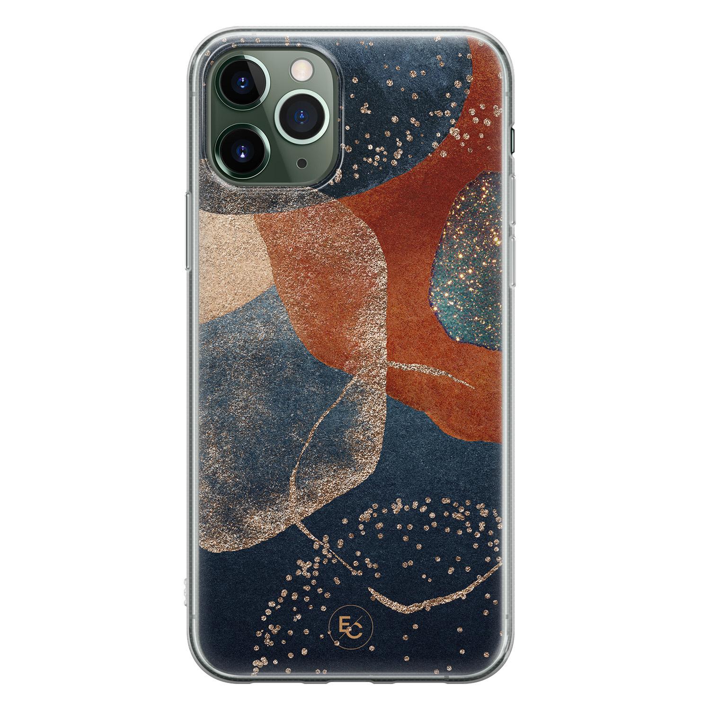 ELLECHIQ iPhone 11 Pro Max siliconen hoesje - Abstract Terracotta