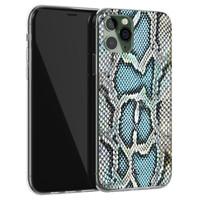 ELLECHIQ iPhone 11 Pro Max siliconen hoesje - Baby Snake blue