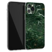 ELLECHIQ iPhone 11 Pro Max siliconen hoesje - Marble jade green