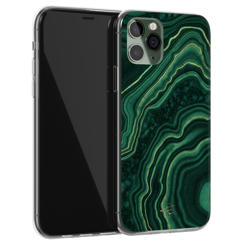 Telefoonhoesje Store iPhone 11 Pro Max siliconen hoesje - Agate groen