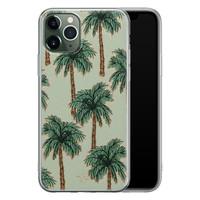 Telefoonhoesje Store iPhone 11 Pro Max siliconen hoesje - Palmbomen