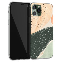 Telefoonhoesje Store iPhone 11 Pro Max siliconen hoesje - Abstract peach