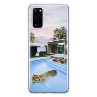 ELLECHIQ Samsung Galaxy S20 siliconen hoesje - Tiger pool