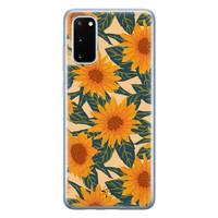Telefoonhoesje Store Samsung Galaxy S20 siliconen hoesje - Zonnebloemen