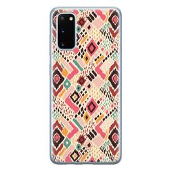 Telefoonhoesje Store Samsung Galaxy S20 siliconen hoesje - Boho vibes