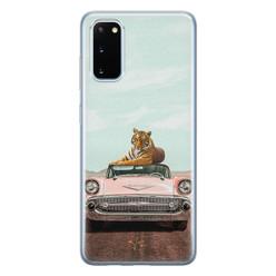 ELLECHIQ Samsung Galaxy S20 siliconen hoesje - Chill tijger
