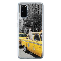 ELLECHIQ Samsung Galaxy S20 siliconen hoesje - Lama in taxi