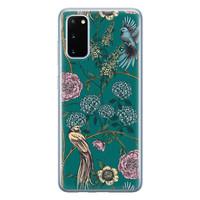 Telefoonhoesje Store Samsung Galaxy S20 siliconen hoesje - Bloomy birds