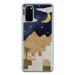 Leuke Telefoonhoesjes Samsung Galaxy S20 siliconen hoesje - Desert night