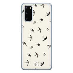 Telefoonhoesje Store Samsung Galaxy S20 siliconen hoesje - Freedom birds