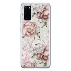 Telefoonhoesje Store Samsung Galaxy S20 siliconen hoesje - Classy flowers