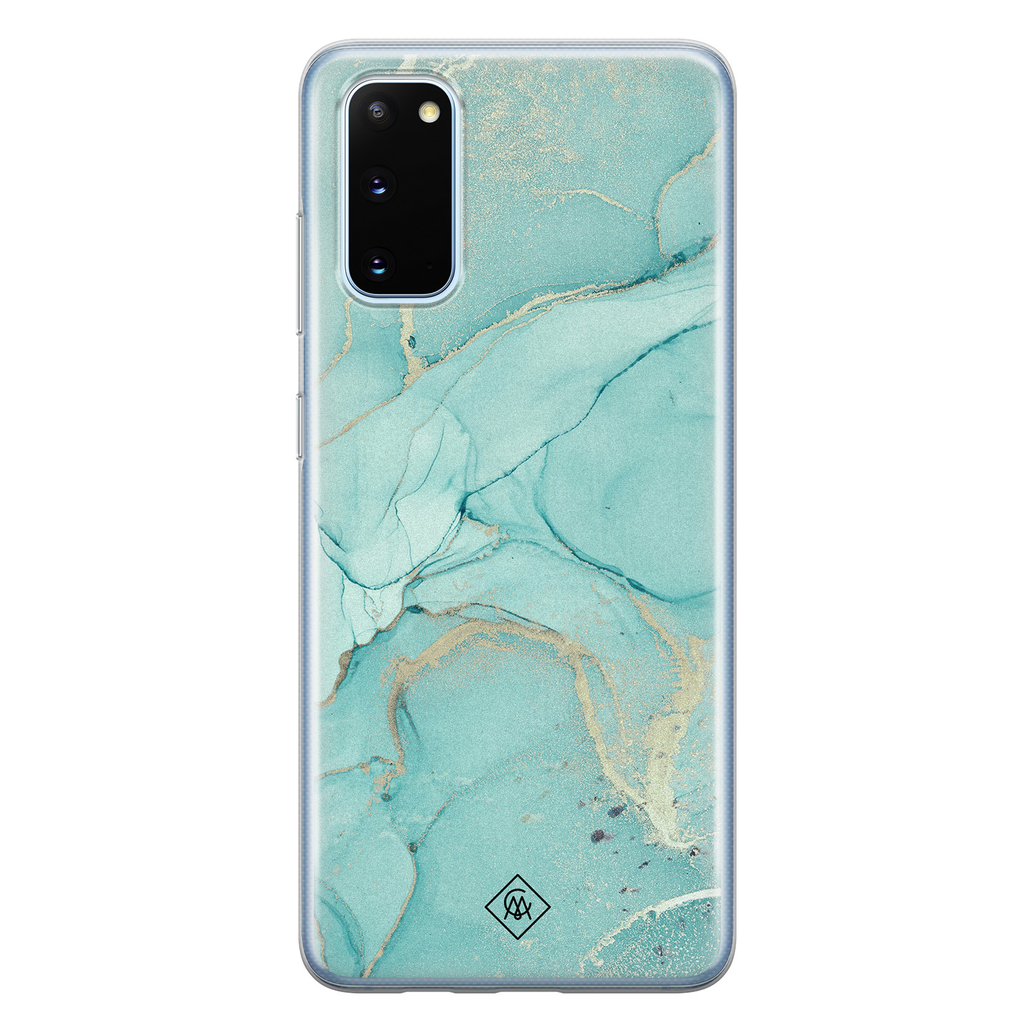 Casimoda Samsung Galaxy S20 siliconen hoesje - Touch of mint