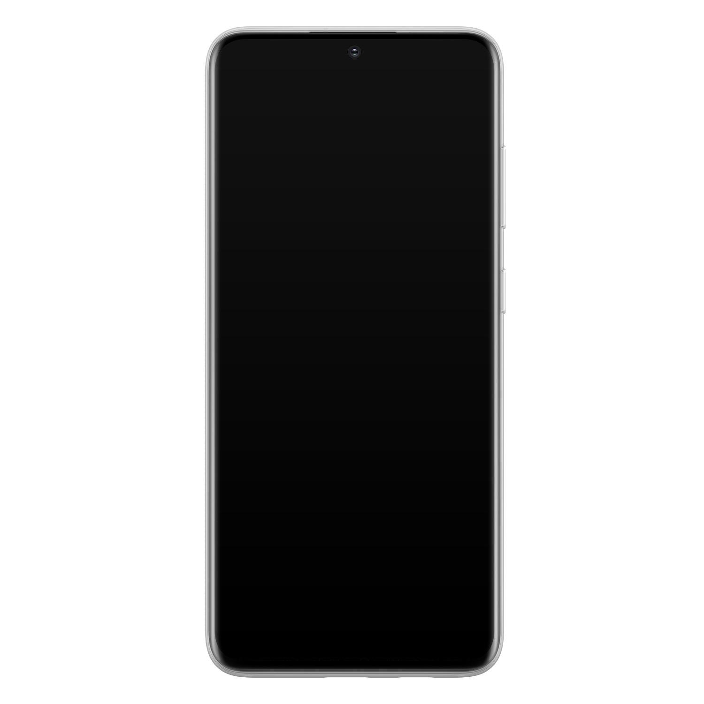 Leuke Telefoonhoesjes Samsung Galaxy S20 siliconen hoesje - Abstract gezicht lijnen