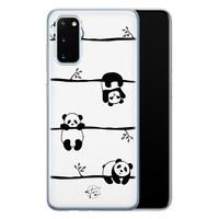 Telefoonhoesje Store Samsung Galaxy S20 siliconen hoesje - Panda