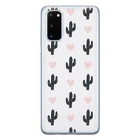 Leuke Telefoonhoesjes Samsung Galaxy S20 siliconen hoesje - Cactus love