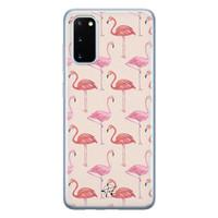 Telefoonhoesje Store Samsung Galaxy S20 siliconen hoesje - Flamingo