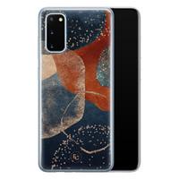 ELLECHIQ Samsung Galaxy S20 siliconen hoesje - Abstract Terracotta