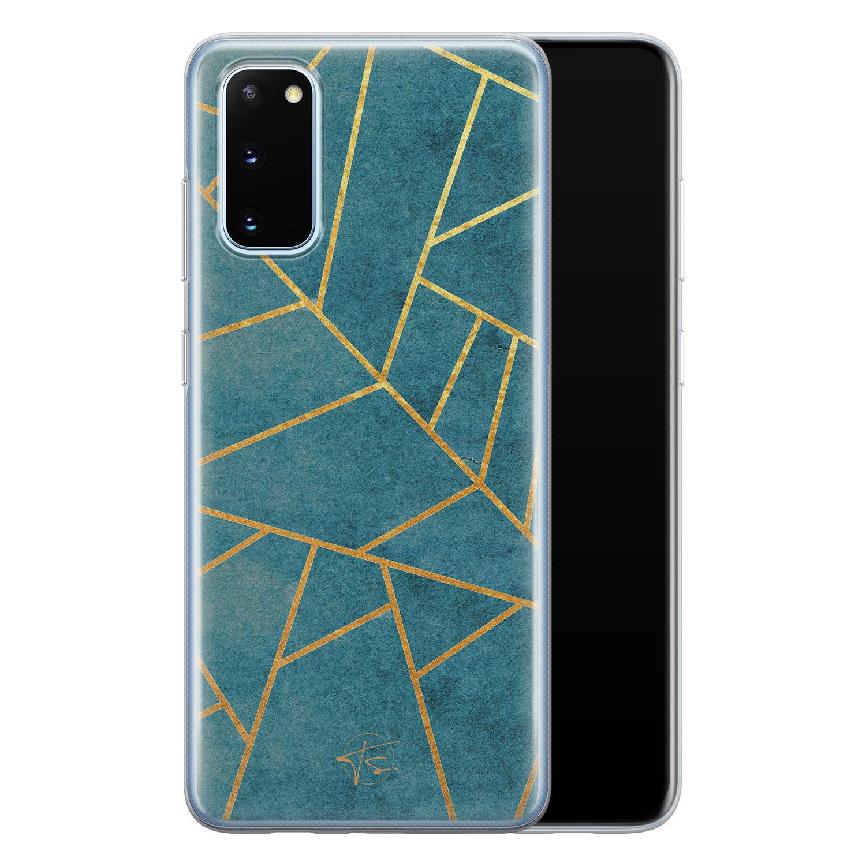 Telefoonhoesje Store Samsung Galaxy S20 siliconen hoesje - Abstract blauw