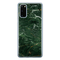 ELLECHIQ Samsung Galaxy S20 siliconen hoesje - Marble jade green