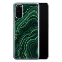 Telefoonhoesje Store Samsung Galaxy S20 siliconen hoesje - Agate groen