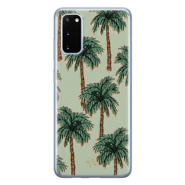 Telefoonhoesje Store Samsung Galaxy S20 siliconen hoesje - Palmbomen