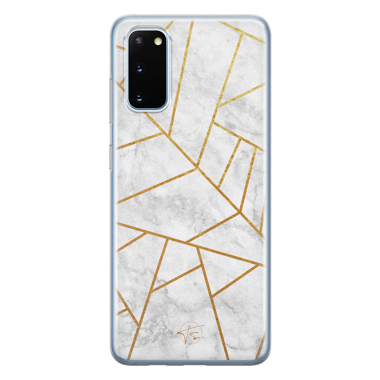 Telefoonhoesje Store Samsung Galaxy S20 siliconen hoesje - Geometrisch marmer