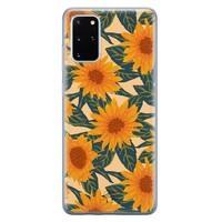 Telefoonhoesje Store Samsung Galaxy S20 Plus siliconen hoesje - Zonnebloemen