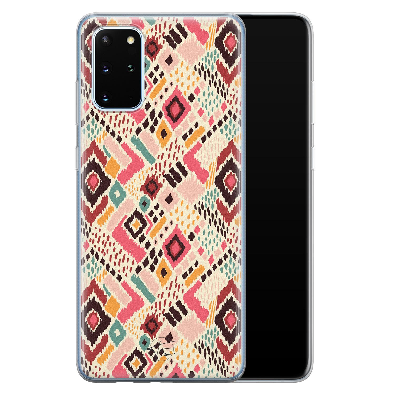 Telefoonhoesje Store Samsung Galaxy S20 Plus siliconen hoesje - Boho vibes