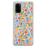 Telefoonhoesje Store Samsung Galaxy S20 Plus siliconen hoesje - Romantische bloemen