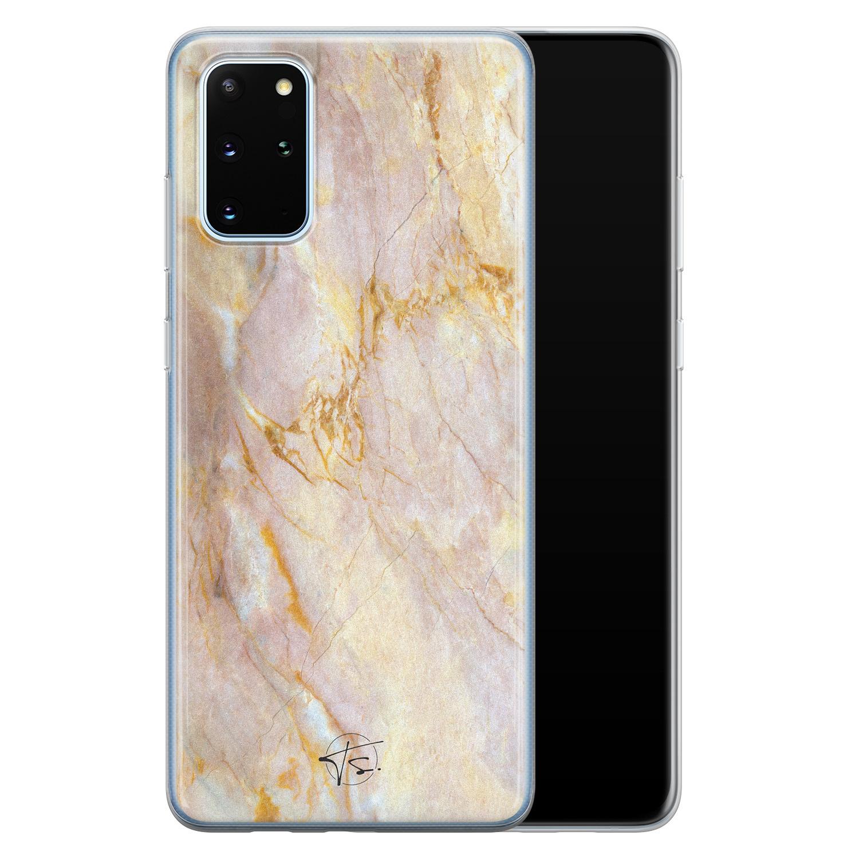 ELLECHIQ Samsung Galaxy S20 Plus siliconen hoesje - Stay Golden Marble