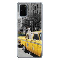 ELLECHIQ Samsung Galaxy S20 Plus siliconen hoesje - Lama in taxi