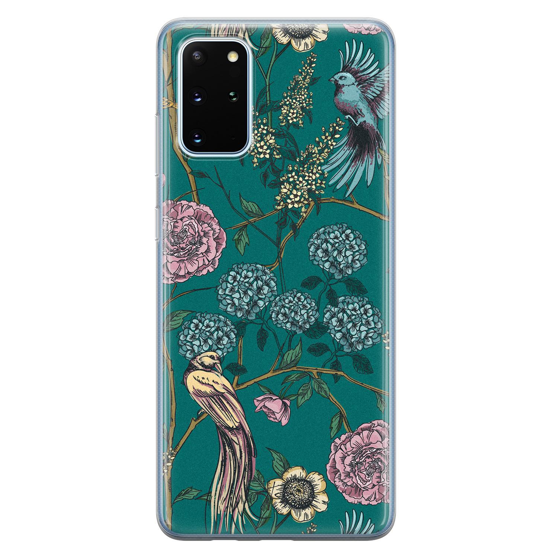 Telefoonhoesje Store Samsung Galaxy S20 Plus siliconen hoesje - Bloomy birds