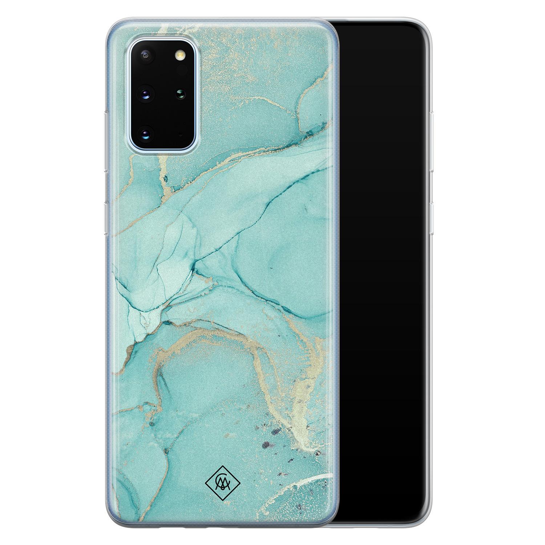 Casimoda Samsung Galaxy S20 Plus siliconen hoesje - Touch of mint