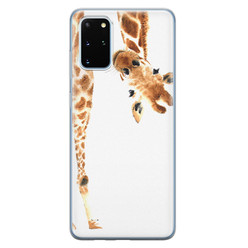 Leuke Telefoonhoesjes Samsung Galaxy S20 Plus siliconen hoesje - Giraffe peekaboo