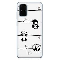 Telefoonhoesje Store Samsung Galaxy S20 Plus siliconen hoesje - Panda