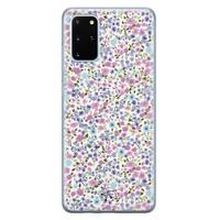 Telefoonhoesje Store Samsung Galaxy S20 Plus siliconen hoesje - Purple Garden
