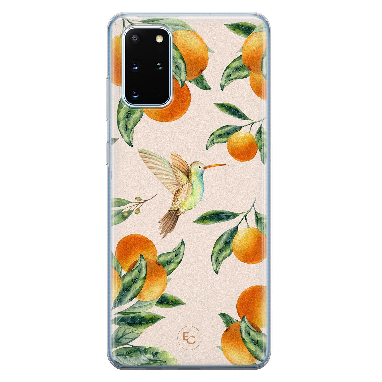 ELLECHIQ Samsung Galaxy S20 Plus siliconen hoesje - Tropical Lemonade