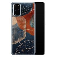 ELLECHIQ Samsung Galaxy S20 Plus siliconen hoesje - Abstract Terracotta