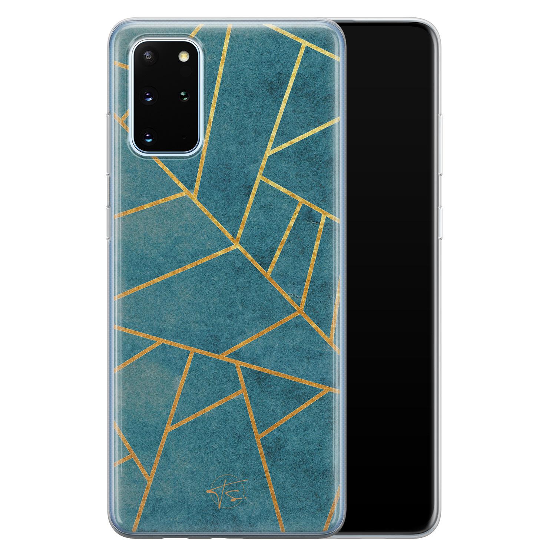 Telefoonhoesje Store Samsung Galaxy S20 Plus siliconen hoesje - Abstract blauw
