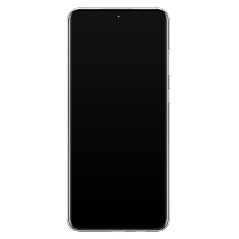 ELLECHIQ Samsung Galaxy S20 Plus siliconen hoesje - Marble jade green