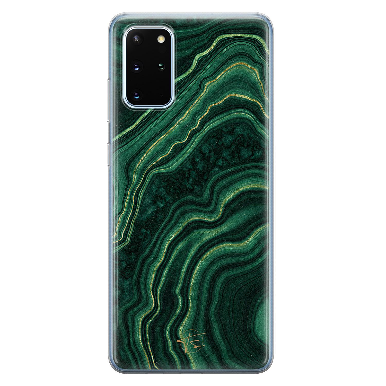 Telefoonhoesje Store Samsung Galaxy S20 Plus siliconen hoesje - Agate groen