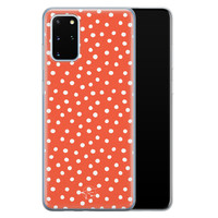 Telefoonhoesje Store Samsung Galaxy S20 Plus siliconen hoesje - Orange dots