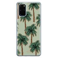 Telefoonhoesje Store Samsung Galaxy S20 Plus siliconen hoesje - Palmbomen