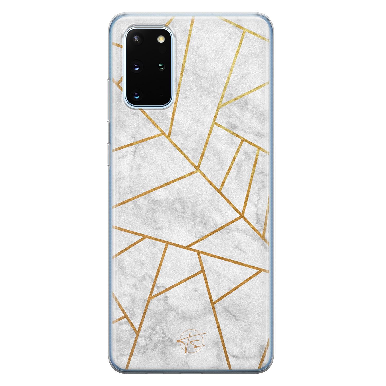 Telefoonhoesje Store Samsung Galaxy S20 Plus siliconen hoesje - Geometrisch marmer